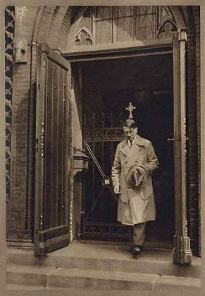 Hitler exiting a church