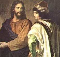 Jesus with rich man